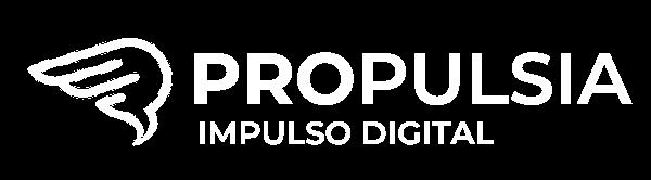logo propulsia impulso digital blanco