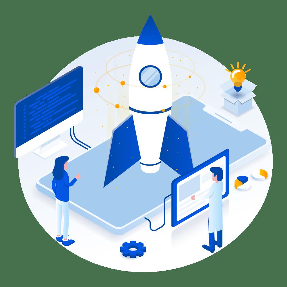 Equipo de agencia de marketing digital con estrategias de posicionamiento web